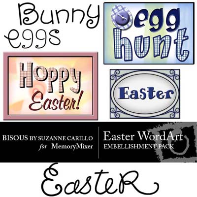 Easter Wordart for Digital Scrapbooking
