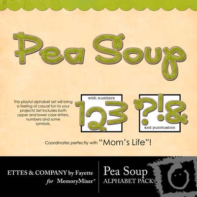 Pea Soup Alphabet Pack for Digital Scrapbooking