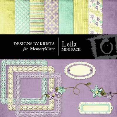 Leila Mini Pack for Digital Scrapbooking