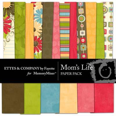 Mom's Life Digital Backgrounds for MemoryMixer