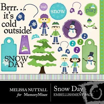 Snow Days Embellishment Pack