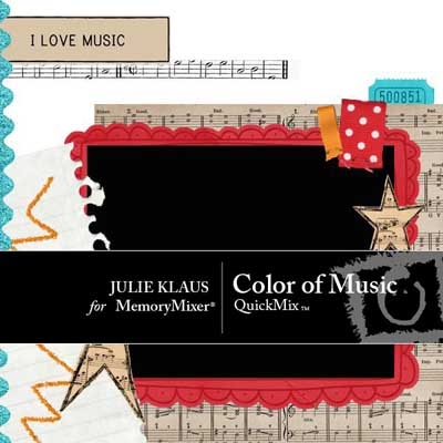 Color of Music QuickMix for Digital Scrapbooking with MemoryMixer