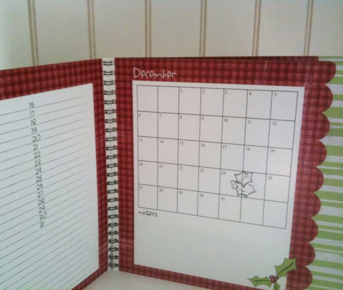 Christmas Planner Calendar Page
