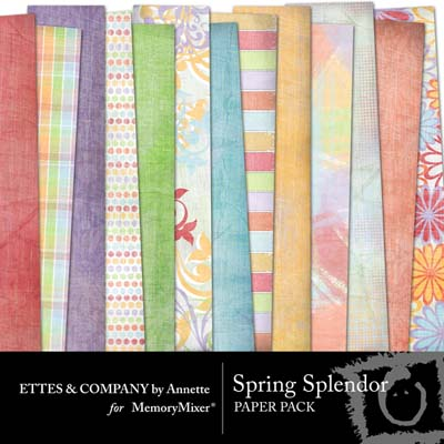 Spring Splendor Digital Backgrounds for MemoryMixer