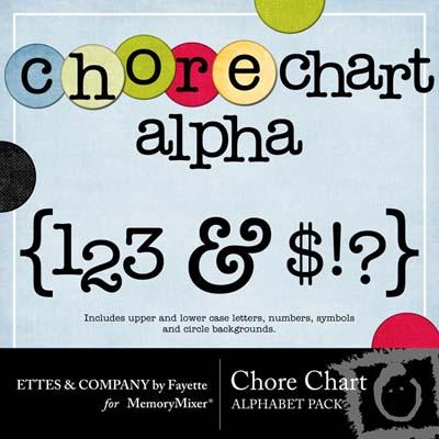 Chore Chart Alphabet Pack for MemoryMixer