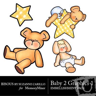 Baby 2 Graphics 1 Embellishments for Digital Scrapbooking
