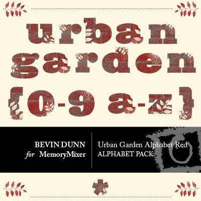 Urban Garden Alphabet Red