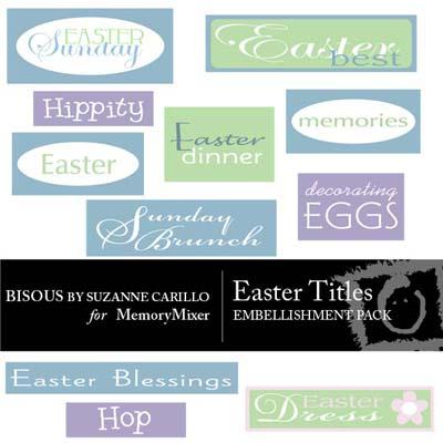 Easter Titles Wordart for Digital Scrapbooking