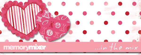 Valentine Header for MemoryMixer Digital Scrapbooking