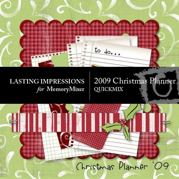 MemoryMixer Christmas Planner QuickMix