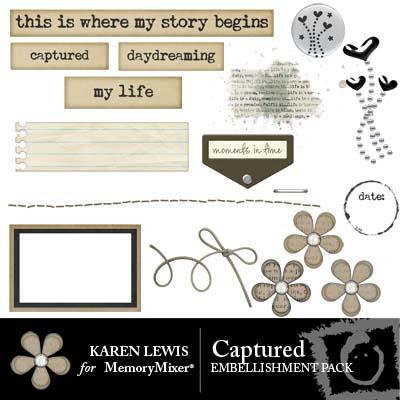 Captured Embellishment pack for MemoryMixer