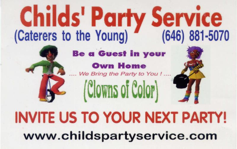 Childs Party Service