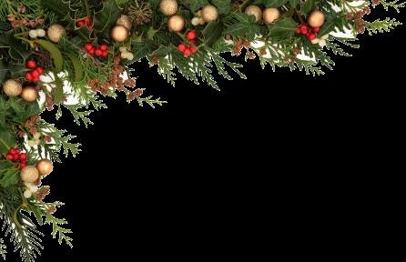 White christmas garland png