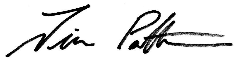 Tim Patterson signature