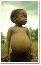 Africa famine boy