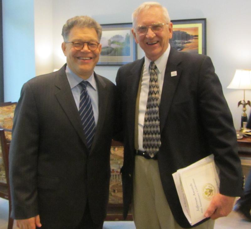 Richard with Senator Frankin