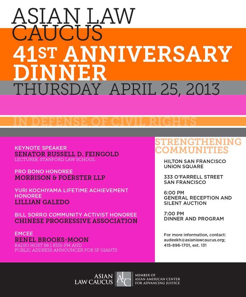 41st Anniversary Dinner
