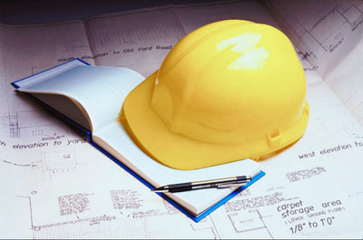 construction helmet and permitting