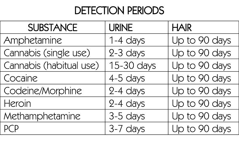 drug detection periods