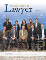 Fall 2012 Washburn Lawyer cover