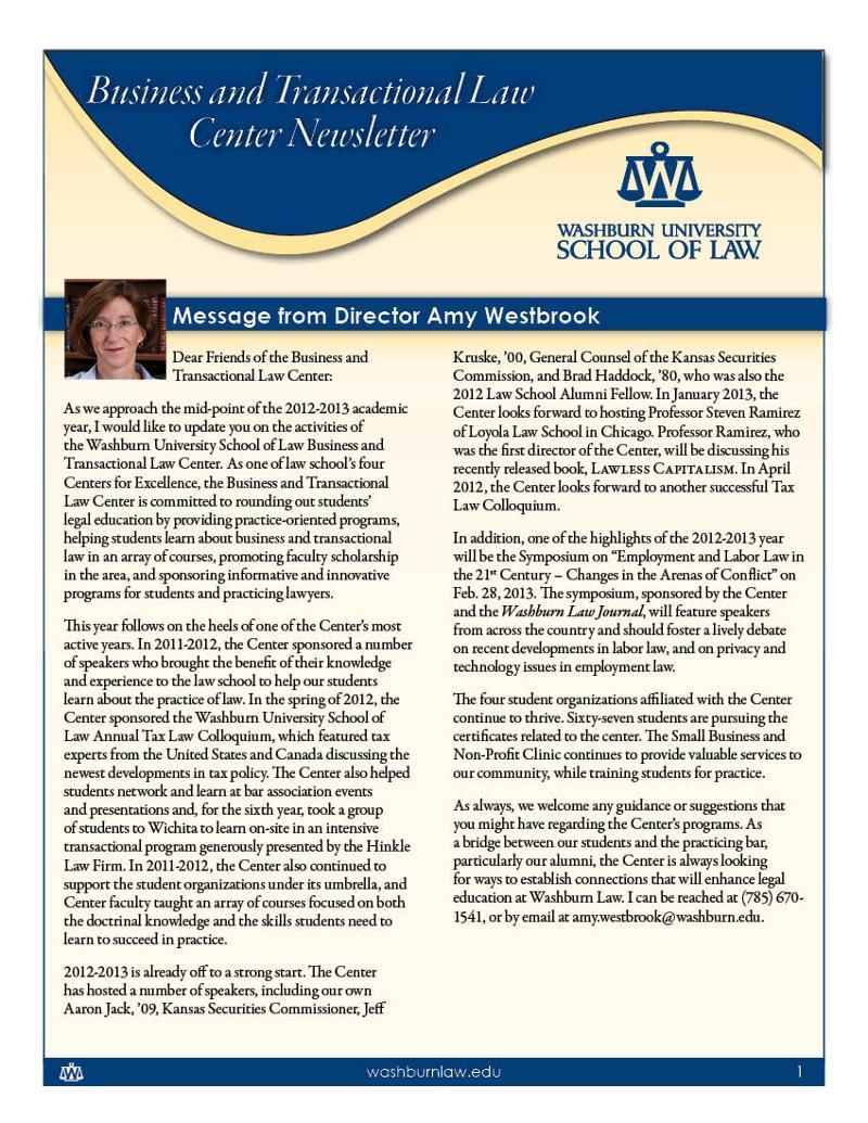 BTLC newsletter page 1