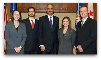 Tim Belsan with U.S. Attorney General Eric Holder
