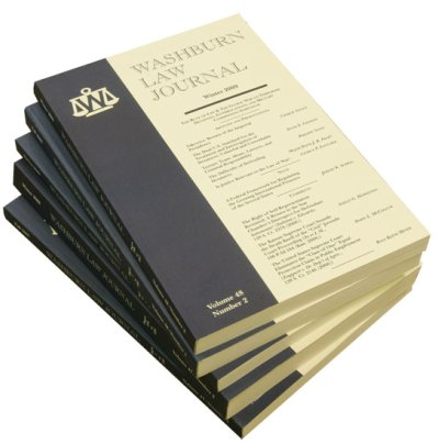 Stack of Washburn Law Journals