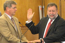 Bill Ossman sworn in