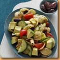 Mediterranian Pasta Salad with Avacado