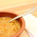 Bowl of lentil soup.