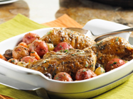 Mediterranean Slow Cooker Chicken and Potatoes