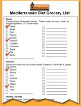Med Diet Grocery List