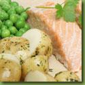 Fish and new potatoes