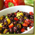 Black bean lentil salad