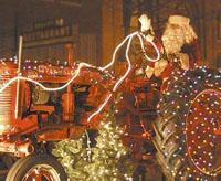 Santa on tracter