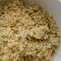 Bowl of quinoa.