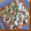 crab and potato salad