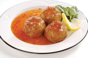 chicken and sesame seed balls