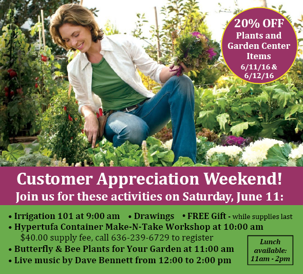 Hillermann's Customer Appreciation Weekend - June 11 & 12, 2016 flyer graphic