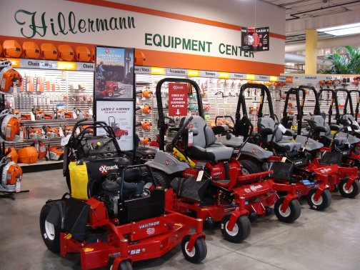 Picture of mowers and other lawn and garden equipment available at Hillermann Nursery and Florist