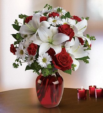 Valentine's Day flower arrangement available from Hillermann Nursery and Florist