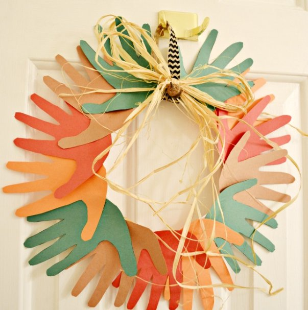 Fall hand wreath craft