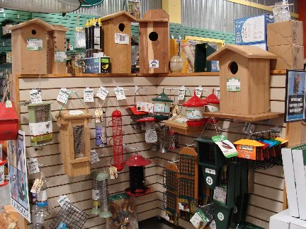 Bird and wildlife items available at Hillermann Nursery and Florist