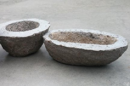 Hypertufa containers - lightweight planters that look like concrete