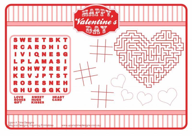 Valentine's Day activity page