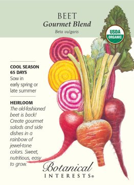 Botanical Interests Gourmet Blend Beet seed packet front. Seeds available at Hillermann Nursery and Florist