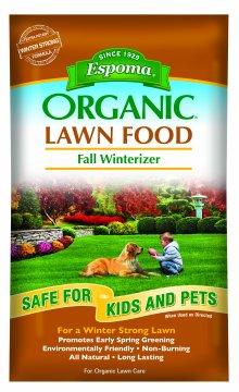 Espoma Organic Lawn Food available at Hillermann Nursery and Florist