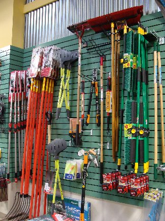 Yard and garden tools available at Hillermann Nursery and Florist