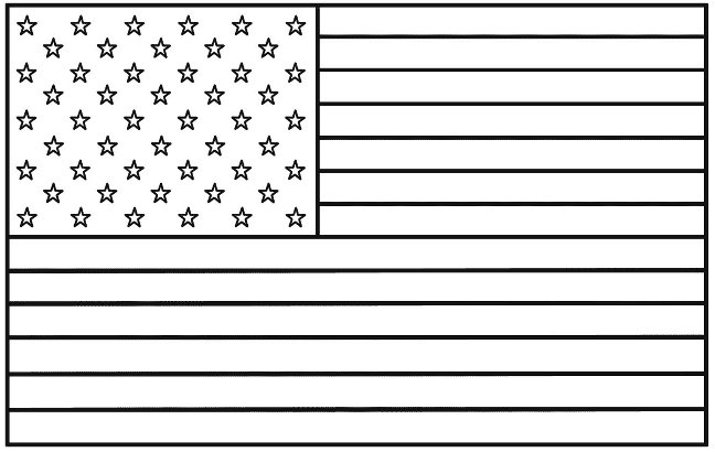 USA Flag coloring picture