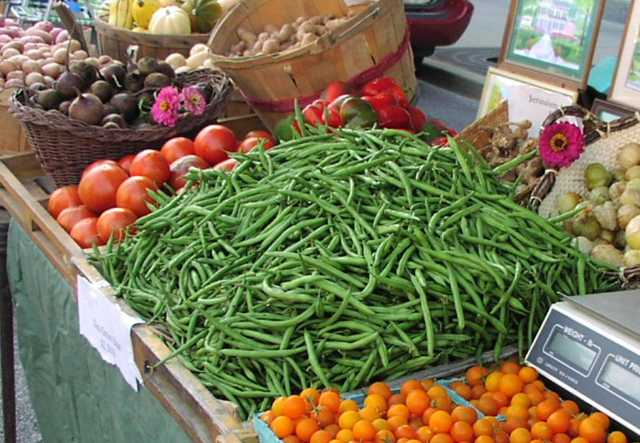 Vegetables at a produce stand